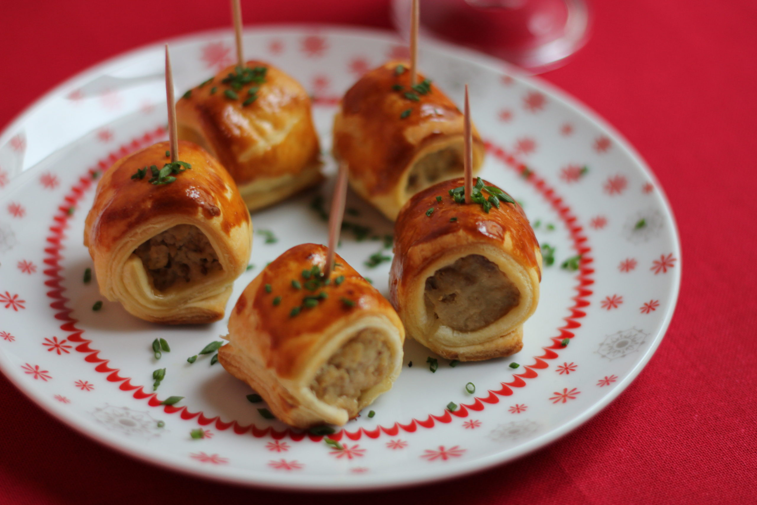 Boudin Blanc with Mushrooms