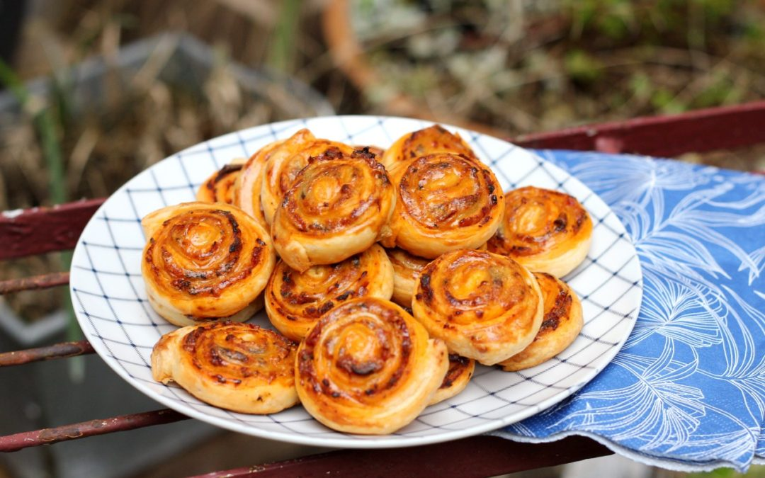 Anchovy and Red Pesto Pinwheels