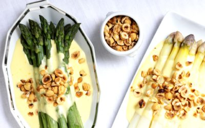 Asparagus with Mousseline Sauce and Hazelnuts