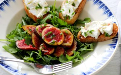 Figs with Chèvre and Vanilla